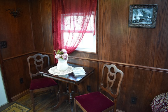 Caboose Dining Area